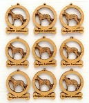 Belgian Laekenois Dog Ornament Minis - Set of 9